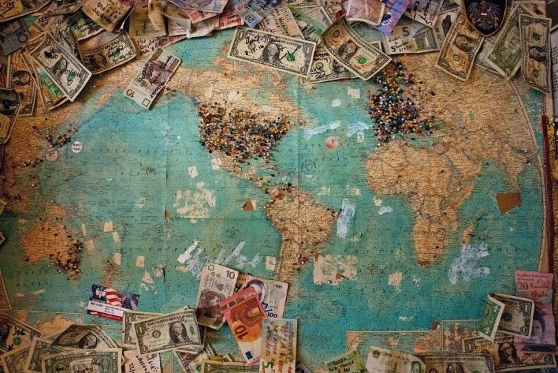 map-world-currency-money
