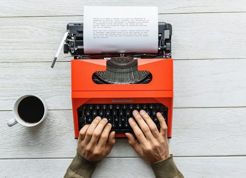 orange-type-writer-with-typed-story