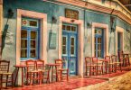 Picturesque Greek cafe