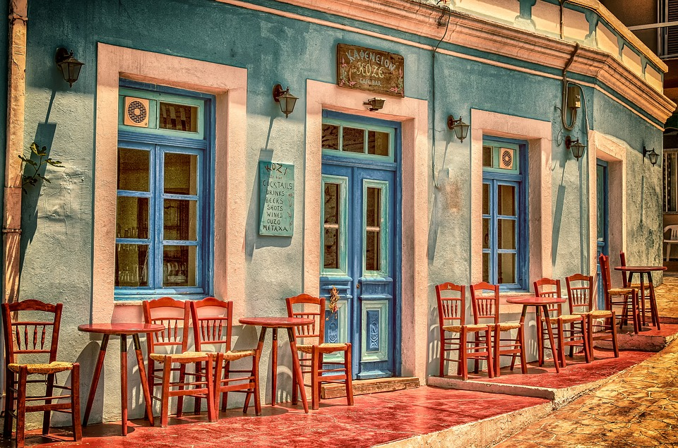 Beautiful Greek cafe called Kozi