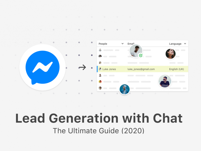 Creating potential business leads with Facebook Messenger.