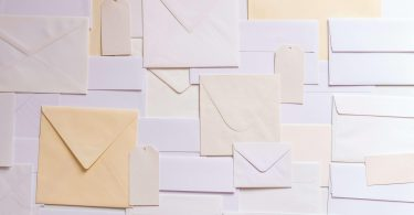 Mail envelopes used to represent email marketing